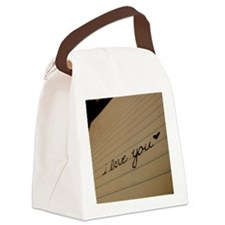 i love you. Canvas Lunch Bag