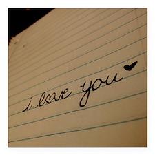 "i love you. Square Car Magnet 3"" x 3"""