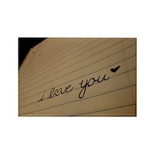 i love you. Rectangle Magnet