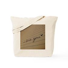 i love you. Tote Bag