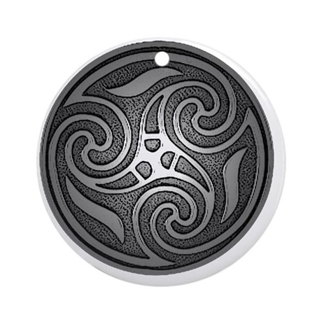 celtic spiral PNG Round Ornament