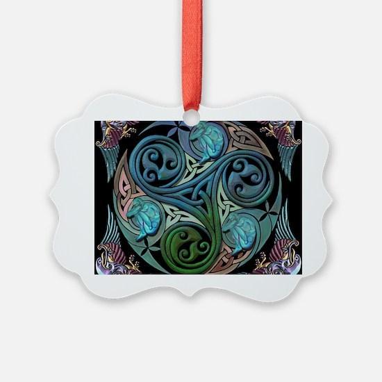 celticspiralwithblueman Ornament