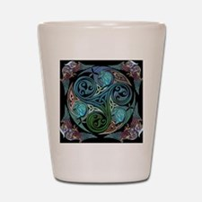 celticspiralwithblueman Shot Glass