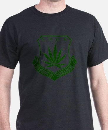 SOHK Weed Green Distressed T-Shirt