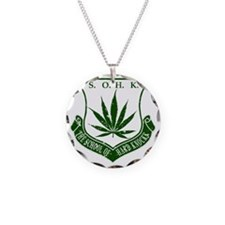 SOHK Weed Green Distressed Necklace