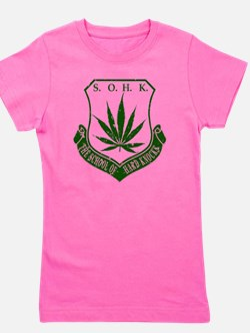 SOHK Weed Green Distressed Girl's Tee