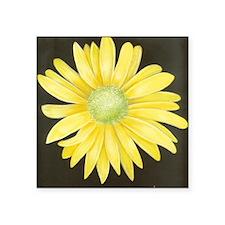 "Yellow Daisy Square Sticker 3"" x 3"""