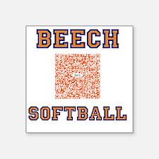 """Beech softball 2011 QR Code Square Sticker 3"""" x 3"""""""