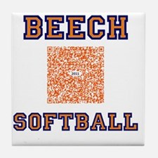 Beech softball 2011 QR Code Tile Coaster