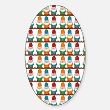 gnomesflipflops3 Sticker (Oval)