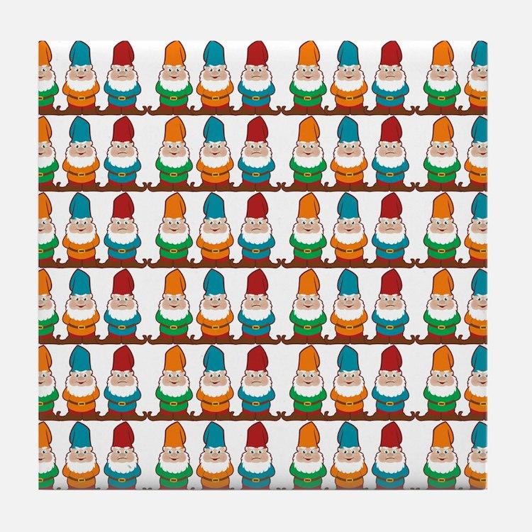 gnomesflipflops3 Tile Coaster