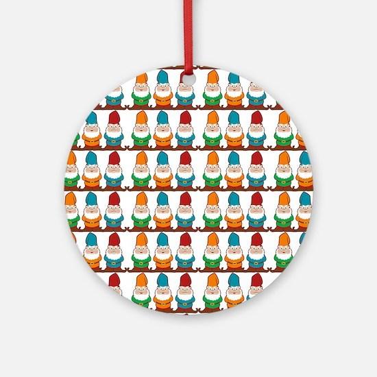gnomesflipflops3 Round Ornament