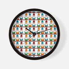 gnomesflipflops3 Wall Clock