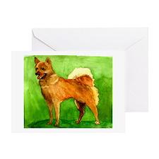 Finnish Spitz Dog Greeting Cards