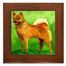 Finnish Spitz Dog Framed Tile