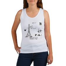 eiffelcutoutshirt.gif Women's Tank Top