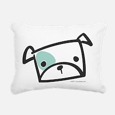 bulldog_face Rectangular Canvas Pillow