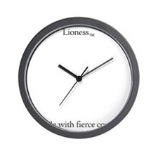 Lioness-11--2 Wall Clock