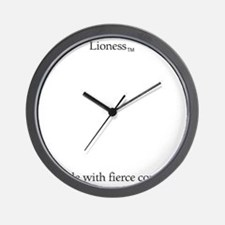 Lioness-11--2 Wall Clock