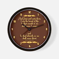 John 6:35 Wheat Wall Clock