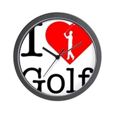 I-Heart-Golf-2 Wall Clock