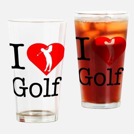 I-Heart-Golf Drinking Glass