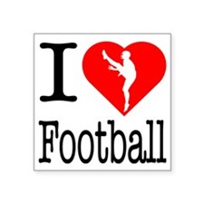 "I-Heart-Ice-Football Square Sticker 3"" x 3"""