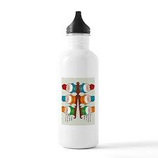 gnomesflipflopsonebyon Water Bottle