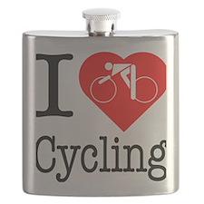 I-Heart-Cycling Flask