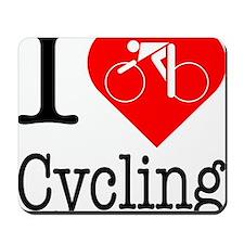 I-Heart-Cycling Mousepad