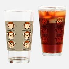 hearnoevilmonkeyflipflops Drinking Glass