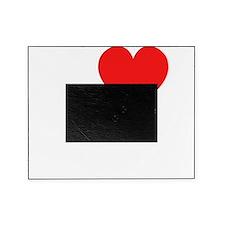 I Heart veggies dark t-shirt Picture Frame
