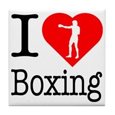 I-Heart-Boxing-Punch Tile Coaster