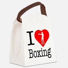 I-Heart-Boxing-Punch Canvas Lunch Bag