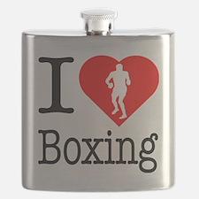 I-Heart-Boxing Flask