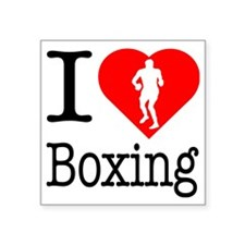 """I-Heart-Boxing Square Sticker 3"""" x 3"""""""