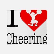 I-Heart-Cheering Throw Blanket