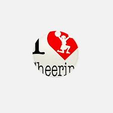 I-Heart-Cheering Mini Button