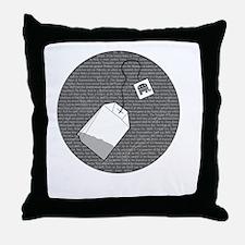 Wasting Tea FINAL Throw Pillow