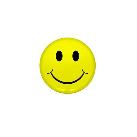 Classic Smiley Face Mini Button