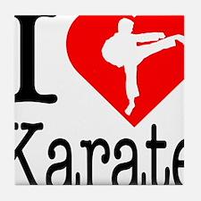 I-Heart-Karate Tile Coaster
