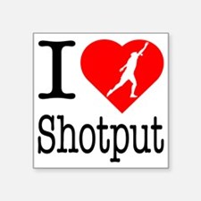 """I-Heart-Shotput Square Sticker 3"""" x 3"""""""