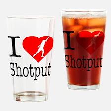 I-Heart-Shotput Drinking Glass