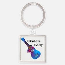 ukulele_lady Square Keychain