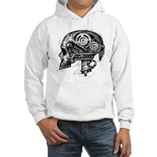 mechskullnobackground Hoodie Sweatshirt