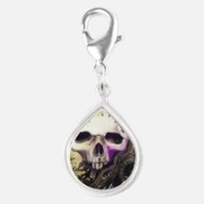 cycleoflife-blk-bckgrd Silver Teardrop Charm