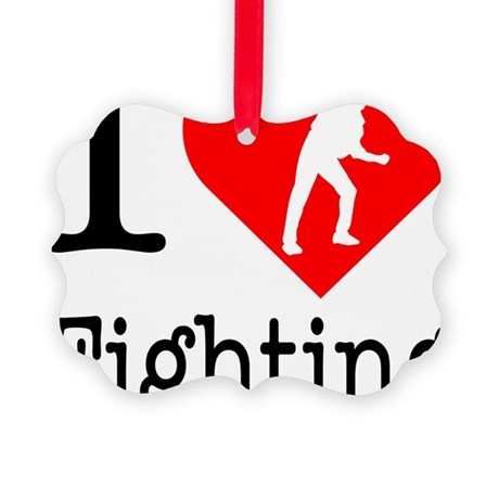 I-Heart-Fighting Picture Ornament