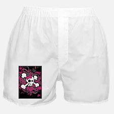 Girly Skull  Crossbones Boxer Shorts