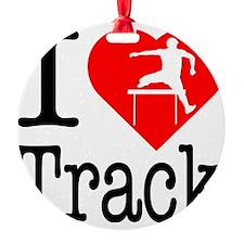 I-Heart-Track Ornament