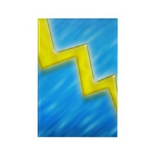 lightningboltI4slideblue Rectangle Magnet